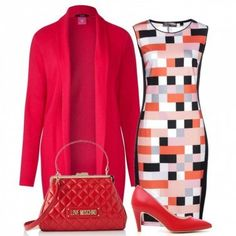 Pattern geometrico: outfit donna Bon Ton per ufficio | Bantoa Polyvore, Outfits, Image, Fashion, Moda, Fashion Styles, Clothes, Fashion Illustrations, Fashion Models