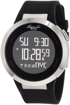 Kenneth Cole New York Unisex KC1639 Digital Black Screen Dial Watch Kenneth Cole. $106.25. Water-resistant to 99 feet (30 M). Durable polyurethane strap. Japanese digital movement with day, date and year functions. Dependable Digital-Quartz movement. Solid stainless steel round case. Save 15%!