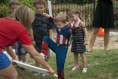 Styrofoam to kick & chop!  Superhero Birthday Party Ideas | Photo 44 of 96 | Catch My Party