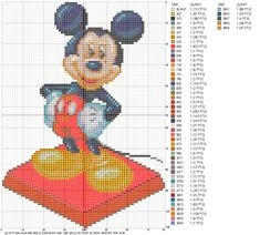 mickey.gif How cute is this coss stitch pattern? I love this website although it is in French. The shading she does and the the characters like Harry Potter.