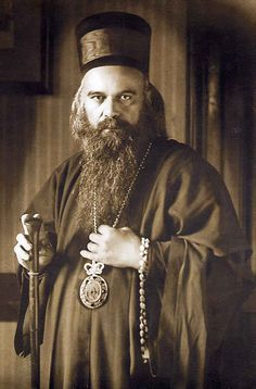 Saint Nikolaj Velimirović was bishop of Žiča in Serbia and the author of many Orthodox books. His most widely-known work is the Prologue from Ohrid. On December 14, 1944 he was sent to Dachau, together with Serbian Patriarch Gavrilo, where some sources, especially the standard Church references, record that he suffered both imprisonment and torture.