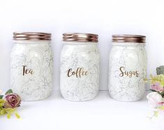 Get The Scoop On Marble Kitchen Accessories Rose Gold Before You're Too Late 121 Rose Gold Accessories, Kitchen Accessories, Tea Coffee Sugar Canisters, Rose Gold Kitchen, Kitchen Decor Themes, Kitchen Ideas, Kitchen Stuff, Kitchen Canisters, Cool Kitchens