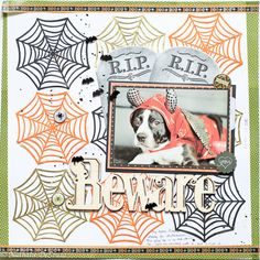 Beware...Halloween Layout