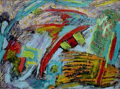 "MATT FOLEY: ""The Ark"" - Mixed media on canvas - 18"" h x 24"" w"