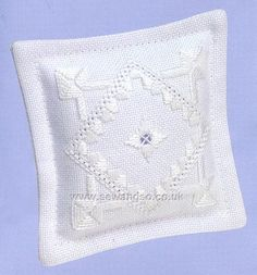 Hardanger Mini Pillow 2 Front Embroidery Kit