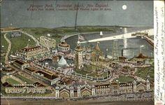 Nantasket Beach MA Paragon Park World's Fair 50,000, Creation 100,000 Electric Lights 20 Acres.