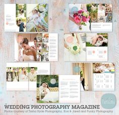 Wedding Photography Magazine - 22 Page Template - PG004- INSTANT DOWNLOAD