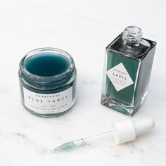 Herbivore Botanicals Blue Tansy Resurfacing Mask + Lapis Facial Oil. Shop Herbivore Botanicals at socialitebeauty.ca  | Pinterest: @beautysocialite