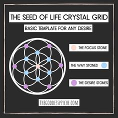What is a crystal grid? Discover an incredibly powerful tool to use when manifesting your intentions, desires, and goals. Diy Crystals, Crystals And Gemstones, Stones And Crystals, Crystal Guide, Crystal Magic, Crystal Drawing, Wiccan Spell Book, Modern Magic, Seed Of Life