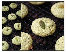 Pistachio Cookies - A slightly different and much more time consuming but possibly better version.