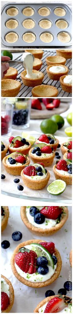 Desserts – Cook as u wish Mini Desserts, Easy Desserts, Delicious Desserts, Sugar Cookie Cups, Sugar Cookie Dough, Cookie Recipes, Dessert Recipes, Baking Recipes, Key Lime Cheesecake
