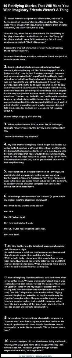 More like creepy.... 10 Petrifying Stories That Will Make You Wish Imaginary Friends Weren't A Thing
