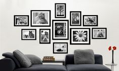 Hang prints you've been meaning to frame or re-style current wall art with a whole new frame set that comes in black, white, silver or brown Black And White Photo Wall, Black White, White Highlights, A 17, Picture Wall, Interior Styling, Gallery Wall, Home Decor, Future House