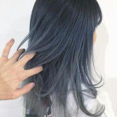 Korean Hair Color Ombre, Blue Hair, Hair Inspo, Girl Pictures, Hair Lengths, Dyed Hair, Hair Beauty, Make Up, Long Hair Styles
