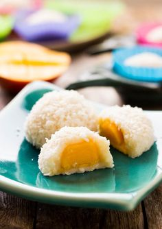 Sugar-free Coconut Mango Mochi | Vegan & Gluten free