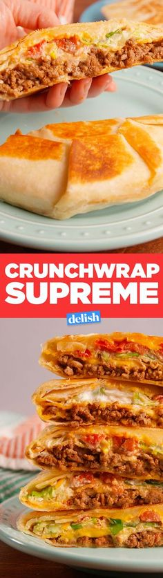 This is how to make a Taco Bell Crunchwrap Supreme at home. Get the recipe in Delish.com.