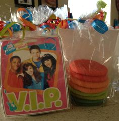 Fresh Beat Band cookie favor bags