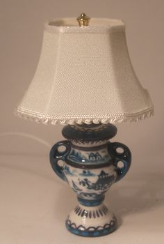 Blue Canton Table Lamp by Christopher Whitford