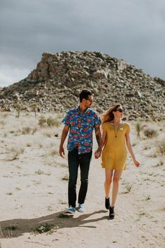 This Cali Cool Joshua Tree Engagement is Full of 1970s Vibes