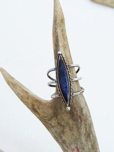 Triple Band Lapis Lazuli // Vintage Ring SOLD