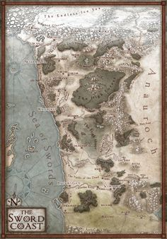 The Sword Coast, a dangerous swathe of land in the north of DnD's Faerun where soldiers and swindlers alike seek adventure. Featured in the new 5th...