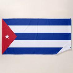 Cuba Flag Beach Towel - customizable diy