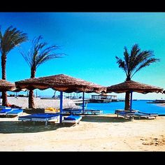 Hurgada, Eygpt. This looks considerably more posh than it was when we visited in 1998, but the sparkling Red Sea beckons. Today there are numerous luxurious resorts. When we were there, there were only a few…but pleasant.