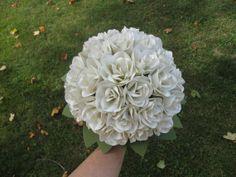 Paper Rose Bridal Bouquet  Wedding Bouquet by PoshStudios on Etsy, $135.00
