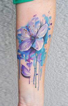 Abstract Flowers Tattoo by U Gene | Tattoo No. 12491