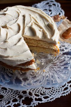 Have to work this into the wedding festivites somehow. Maybe just for a planning session...you know AFTER we get all fitted for our dresses. ;)  Salted Caramel Vanilla Bean Layer Cake