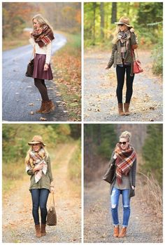 Fall Outfit Inspiration: How to Style Blanket Scarves !!! Follow my #Pinterest page #PocahantasJohnson