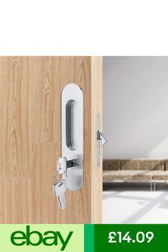 Chrome Sliding Bolt Flat Cabinet Door Cupboard Slide Bolt Dovetail 63mm