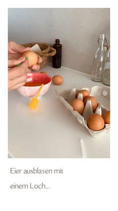 Mit Blas fix geht das ganz einfach Easter Crafts, Easter Eggs, Egg, Simple