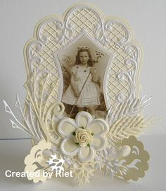 Beautiful card featuring new die from Marianne Designs ~ Riet's Blog