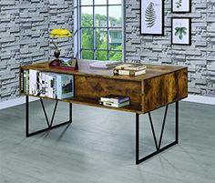 Amazon.com: Coaster 800999 Home Furnishings Desk, Antique Nutmeg/Black: Kitchen & Dining