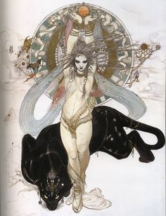 art by Yoshitaka Amano Yoshitaka Amano : illustrateur japonais. by Yoshitaka Amano Yoshitaka Amano : illustrateur japonais. Art Inspo, Kunst Inspo, Art And Illustration, Fantasy Kunst, Fantasy Art, Yoshitaka Amano, Drawn Art, Alphonse Mucha, Gothic Art
