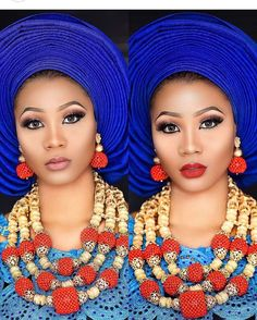 "5,113 Likes, 53 Comments - Aso Ebi Styles (@asoebibella) on Instagram: ""Pick a Lippie!✨ Muse @sarazariee Makeup and gele @glam_drop Aso Oke @debelseventsnmore Beads…"""