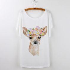 New Design Summer Tshirt Women Casual Animal Tops Cute Fox Print Funny T-Shirt…