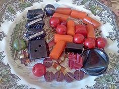 Vintage Bakelite Casein or Old Plastic Buttons