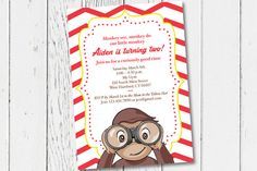 Printable Curious George Birthday Party by JessPiscesDesign