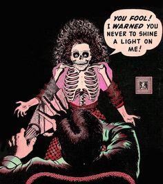 Women in comics throughout history Horror Comics, Bd Comics, Comics Girls, Creepy Comics, Retro Horror, Vintage Horror, Comic Books Art, Comic Art, Book Art