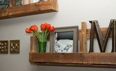 How to Make Stylish Shelves Out of Pallet