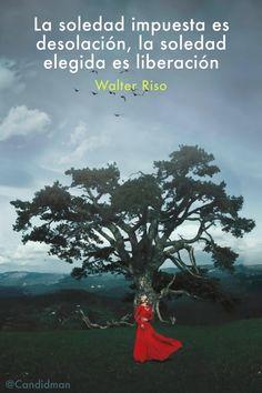 20160714 La soledad impuesta es desolación, la soledad elegida es liberación - Walter Riso @Candidman pinterest