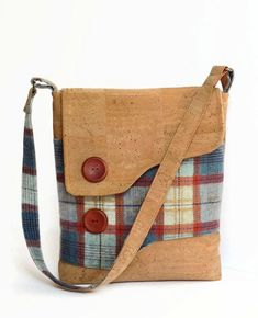 Cork and Irish Wool Messenger Bag by MyCottonHouse on Etsy