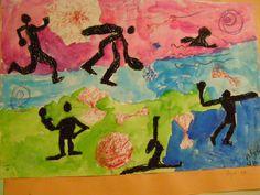 elementary art  -action figures