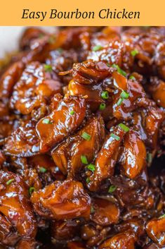 Easy Bourbon Chicken - Dinner, then Dessert - Chicken Recipes Crock Pot Recipes, Easy Chicken Recipes, Asian Recipes, Beef Recipes, Cooking Recipes, Healthy Recipes, Chinese Food Recipes Chicken, Bourbon Street Chicken, Chinese Recipes