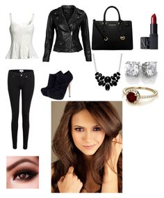 Kathrine from the vampire diaries inspired outfit and the girl in the pic is nina dobrev she's plays Elena and Katherine on the vampire diaries. by ashleywinchester on Polyvore featuring polyvore, fashion, style, VIPARO, Paige Denim, Michael Kors, Style & Co., NARS Cosmetics, tvd and thevampirediaries