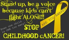 help stop childhood cancer