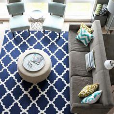 living room layout, color/accessory arrangement, rug