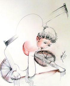 Broken Song - Charcoal/Pencil/Conte drawing